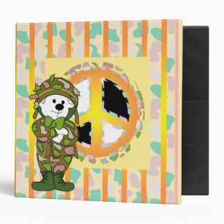 """BEAR SOLDIER CARTOON2 BLACK Touch™ EZD™ Ring Av 2"""" Vinyl Binder"""