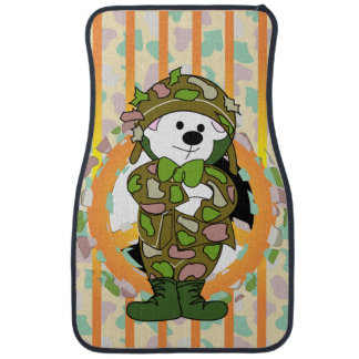 BEAR SOLDIER Cartoon Car Mats (Front) (set of 2)