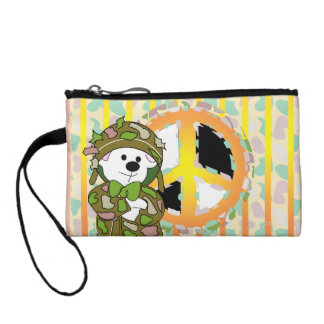 BEAR SOLDIER CARTOON Key Coin Clutch