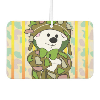 BEAR SOLDIER CARTOON Landscape Recta Air Freshener