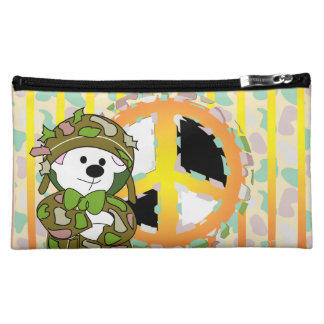 BEAR SOLDIER CARTOON Medium Cosmetic Bag