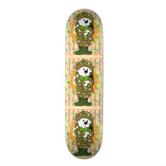BEAR SOLDIER CARTOON Skateboard 7¾""