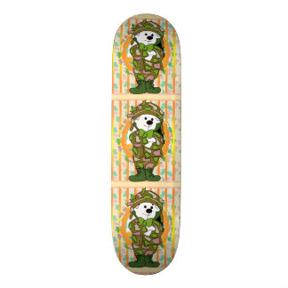 BEAR SOLDIER CARTOON Skateboard 8 1/8""