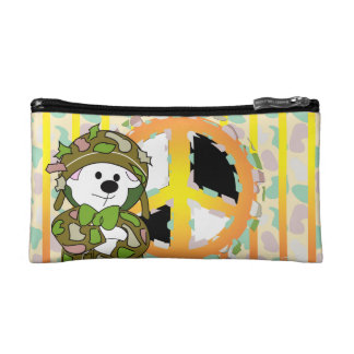 BEAR SOLDIER CARTOON Small Cosmetic Bag