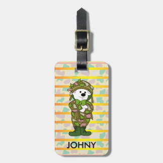 BEAR SOLDIER Luggage Tag w/ leather strap