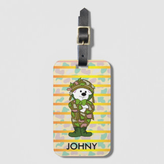BEAR SOLDIER Luggage Tag with Business Card Slot