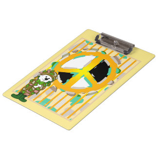 BEAR SOLDIER PEACE CARTOON  Clipboard