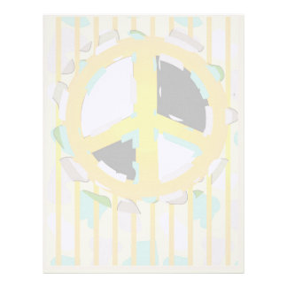 BEAR SOLDIER PEACE CARTOON  Letterhead Linen