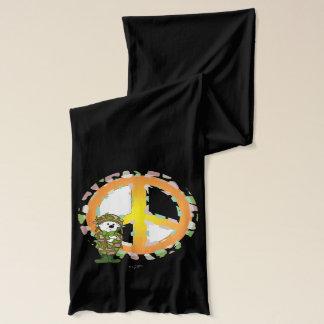 BEAR SOLLDIER CARTOON Jersey Scarf BLACK