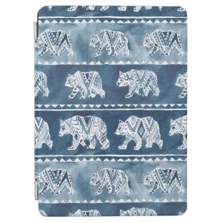 BEAR SPIRIT Navy Boho Tribal Pattern iPad Air Cover