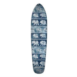 BEAR SPIRIT Navy Boho Tribal Pattern Skate Board Deck