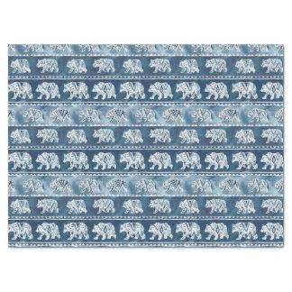 BEAR SPIRIT Navy Boho Tribal Pattern Tissue Paper