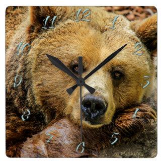 Bear Square Wall Clock