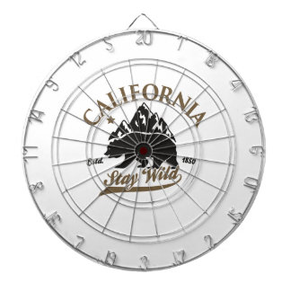 bear stay wild california dartboard