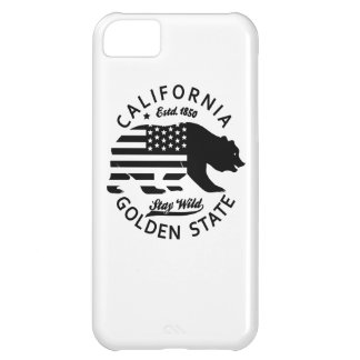 bear stay wild california iPhone 5C case