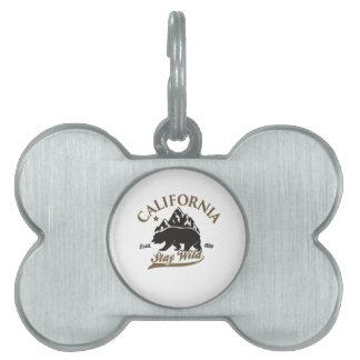 bear stay wild california pet name tag