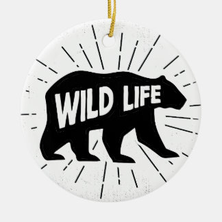Bear - Stay wild Ceramic Ornament