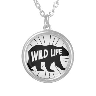 Bear - Stay wild Silver Plated Necklace