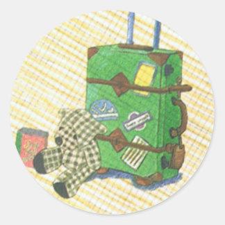 Bear & Suitcase Sticker