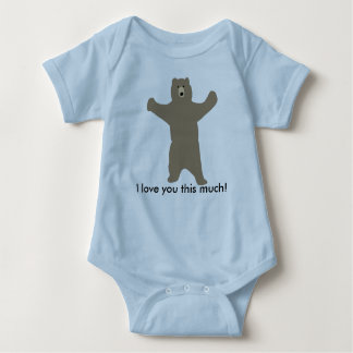 """Bear t-shirt saying """"I love you this much!"""""""