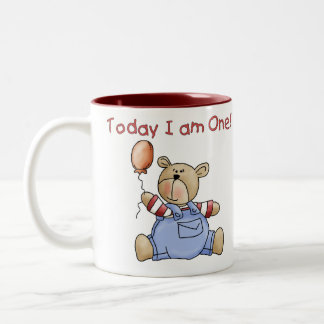 Bear Today I am One Two-Tone Coffee Mug