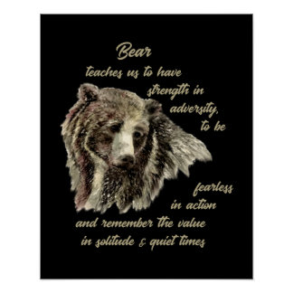 Bear Totem Animal Spirit Guide for Inspiration Poster