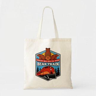 Bear Train Tote Bag