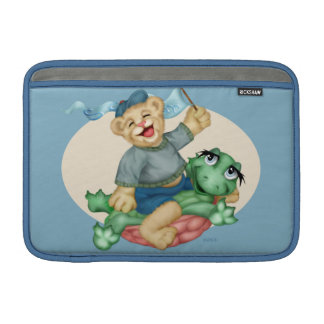 "BEAR TURTLE CARTOON Macbook Air H 11 ON"" MacBook Sleeve"
