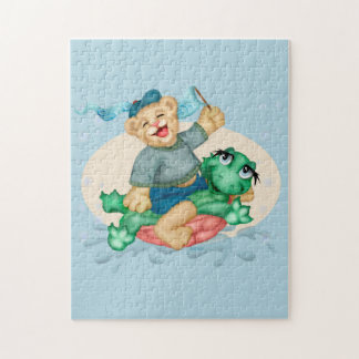 BEAR TURTLE CUTE CARTOON PUZZLE 11 X 14