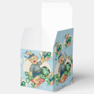BEAR TURTLE  FAVOR BOX Classic 2x2