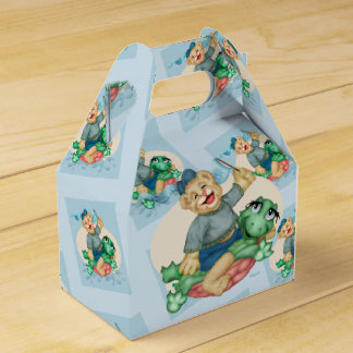 BEAR TURTLE  FAVOR BOX GABLE