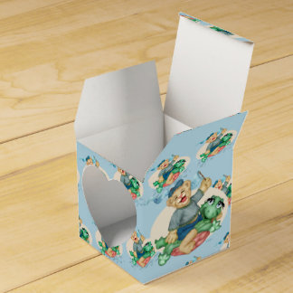 BEAR TURTLE  FAVOR BOX Heart 2x2