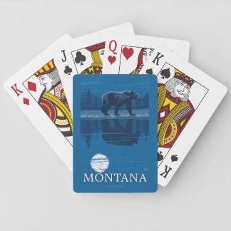 Bear Walking in Moonlight Vintage Travel Playing Cards