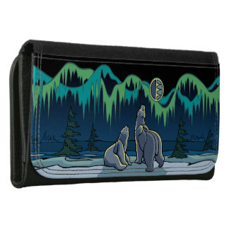Bear Wallet Tribal Bear Northen Lights Wallets