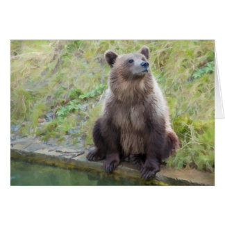 """Bear: """"What is this Owling Thing Anyway?"""" Card"""