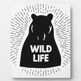 Bear - Wild life Plaque