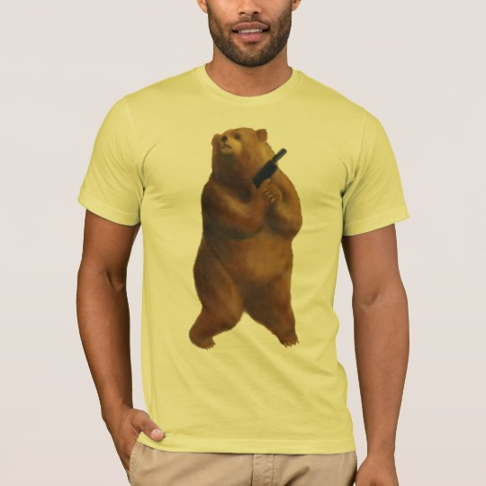 Bear with a Gun Creepin' T-Shirt