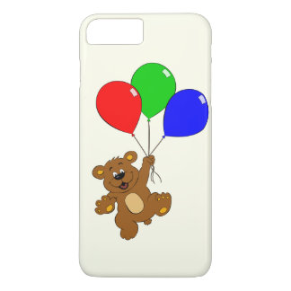 Bear with balloons kids iphone 7 plus case