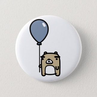 Bear With Blue Balloon 2 Inch Round Button