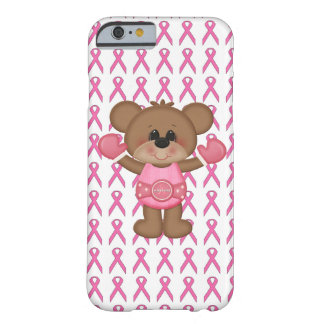 Bear With Boxing Gloves Pink Ribbon iPhone 6 Case Barely There iPhone 6 Case