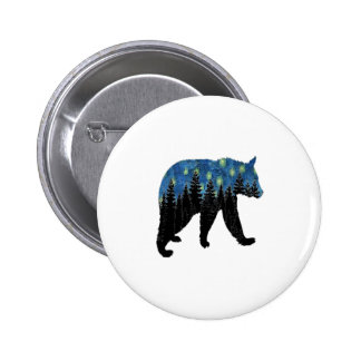 bear with fireflies 2 inch round button