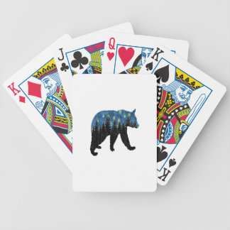 bear with fireflies bicycle playing cards