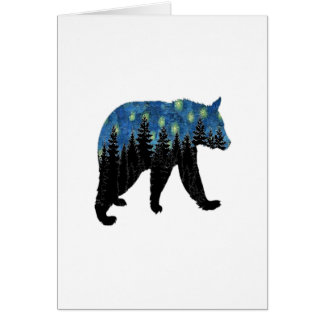 bear with fireflies card