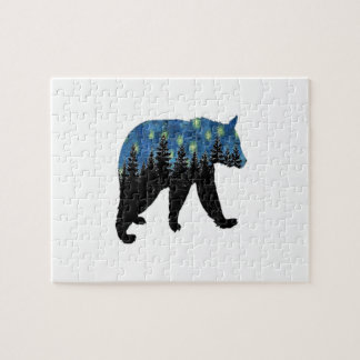 bear with fireflies jigsaw puzzle