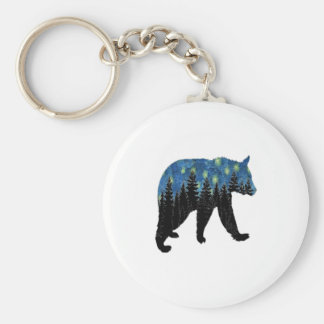 bear with fireflies keychain