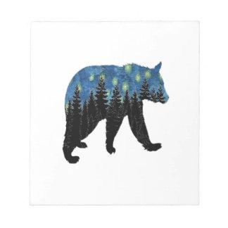 bear with fireflies notepads