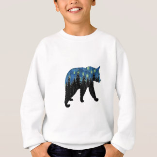 bear with fireflies sweatshirt