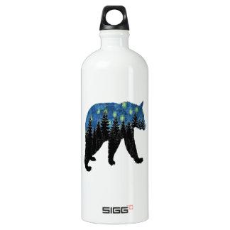 bear with fireflies water bottle
