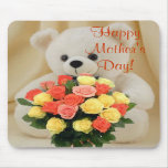 Bear With Flowers Mousepad