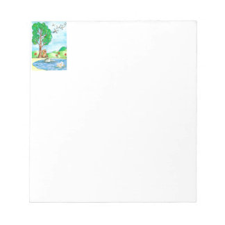 """""""Bear with Flowers"""" Notepad"""